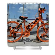The Orioles Bicycle Shower Curtain