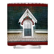 The Ornamented Gable Shower Curtain
