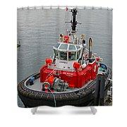 The Osprey Tug Shower Curtain