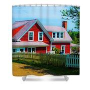 The Other Red House Monhegan Shower Curtain