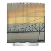 The Other Side Of The Bridge Shower Curtain