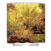 The Other Side Of The Fence Shower Curtain by Eikoni Images
