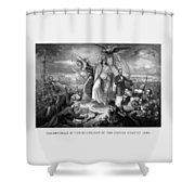 The Outbreak Of The Rebellion In The United States Shower Curtain
