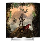 The Outside World Shower Curtain by Solomon Barroa