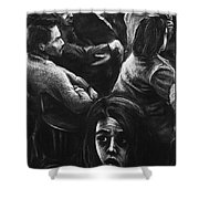 The Outsider's Restless Mind Shower Curtain