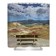 The Overlook At Painted Hills In Oregon Shower Curtain