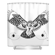 The Owl's Catch Shower Curtain