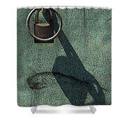 The Padlock, Ring And Shadow Shower Curtain