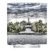 The Pagoda In The Snow Shower Curtain