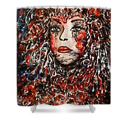 The Painted Lady Shower Curtain