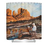 The Painter Woods Shower Curtain