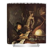 The Painter In His Workshop 1647 Shower Curtain