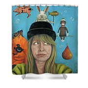 The Painting Maniac Shower Curtain