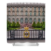 The Palace Courtyard Shower Curtain