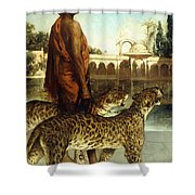 The Palace Guard With Two Leopards Shower Curtain