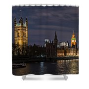 The Palace Of Westminster By Night Shower Curtain