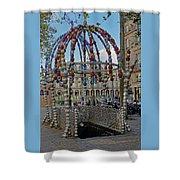 The Palais-royal Metro Station In Paris, France Shower Curtain