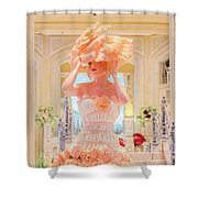 The Palazzo Casino Venetian Rose Dress Shower Curtain