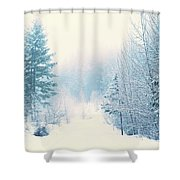 The Pale Kiss Of Winter Shower Curtain