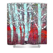The Pale Trees Of Winter Shower Curtain