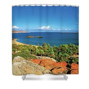 The Palm Forest Of Vai - Crete Shower Curtain