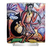 The Palm-wine Tapper #3 Shower Curtain
