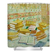 The Parisian Novels Or The Yellow Books Shower Curtain