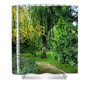 The Park Federico Garcia Lorca Is Situated In The City Of Granada, In Spain. Shower Curtain