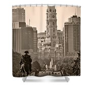 The Parkway In Sepia Shower Curtain by Bill Cannon