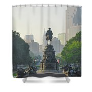 The Parkway - Philadelphia Pa Shower Curtain