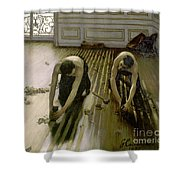 The Parquet Planers - Gustave Caillebotte Shower Curtain