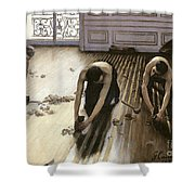 The Parquet Planers Shower Curtain by Gustave Caillebotte