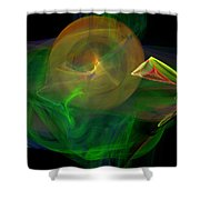 The Parrot By The Harbour Shower Curtain