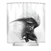 The Parrot Shower Curtain