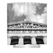 The Parthenon In Nashville Tennessee Black And White 2 Shower Curtain