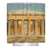 The Parthenon Shower Curtain by Louis Dupre