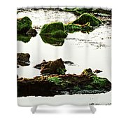 The Passetto Rocks And Water, Ancona, Italy Shower Curtain