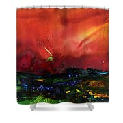The Passing Sky Shower Curtain