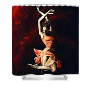 The Passion Of Dance Shower Curtain
