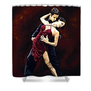 The Passion Of Tango Shower Curtain by Richard Young
