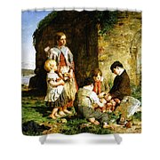 The Past And The Present Shower Curtain