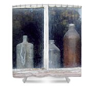 The Past In The Window Shower Curtain
