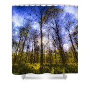 The Pastel Forest Shower Curtain