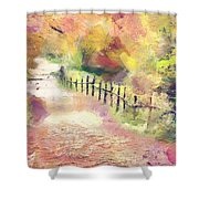 The Path In Autumn Shower Curtain