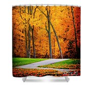 The Path To Autumn Shower Curtain