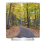 The Pathway To Fall Shower Curtain