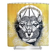 The Patient Llama  Shower Curtain