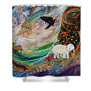 The Patriarchs Series - Ark Of Noah Shower Curtain
