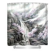 The Peach Blossoms In The Mountains Shower Curtain
