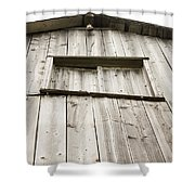 The Peak Of The Amana Farmer's Market Barn Shower Curtain